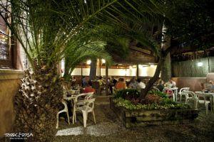 Jardín noche Torre Rosa