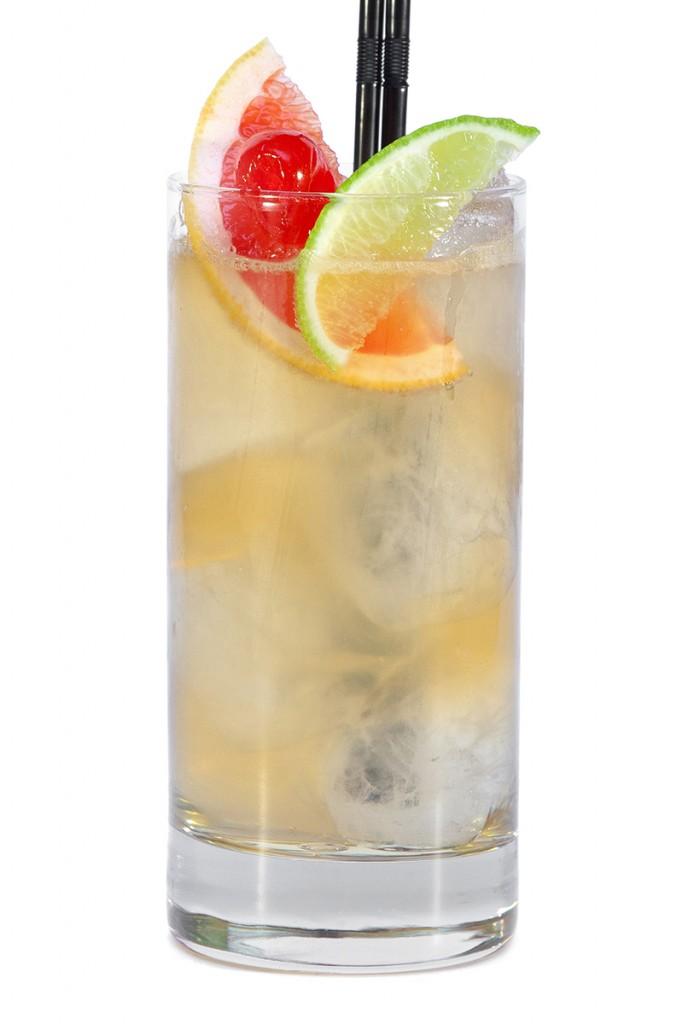 Cóctel bourbon cooler