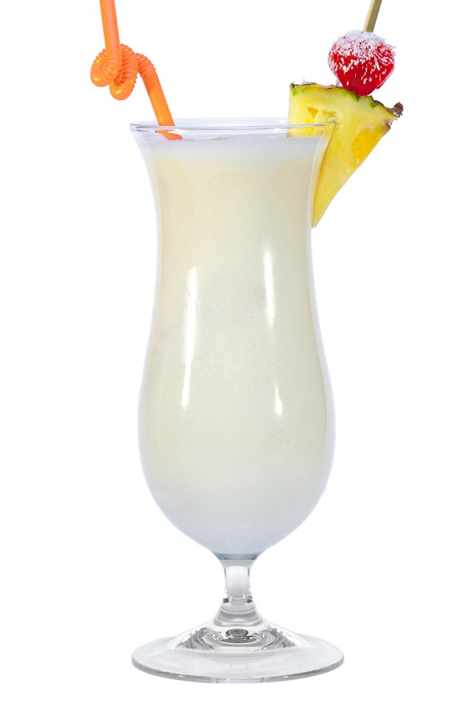 Cóctel piña colada sin alcohol