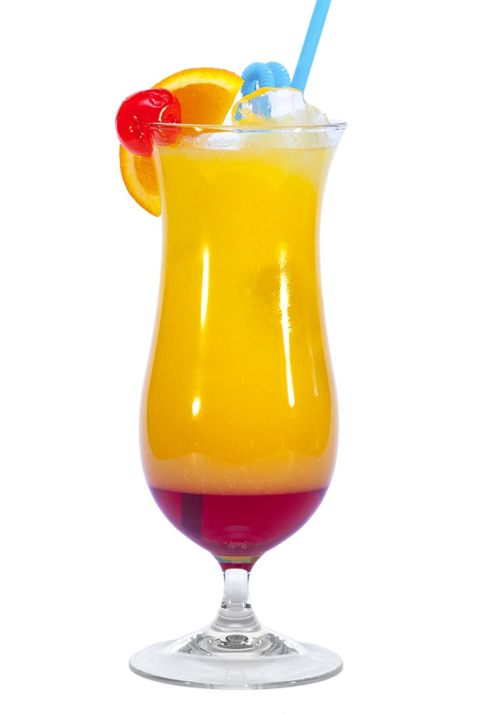 Cóctel tequila sunrise