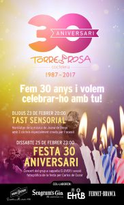 Torre Rosa 30 anniversary