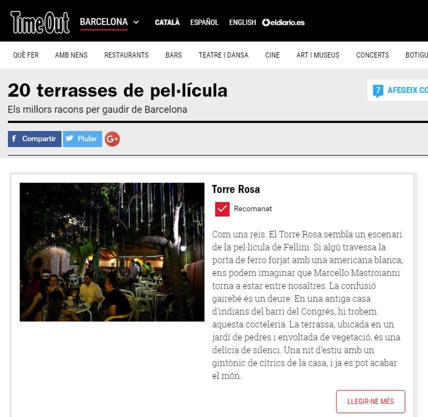 20 terrazas de Barcelona de película