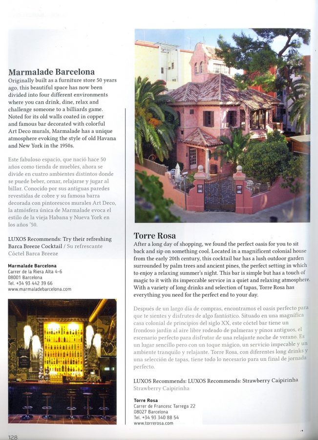 La Torre Rosa en Luxos Magazine